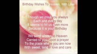Heavenly Birthday Wishes to you Mom! ...
